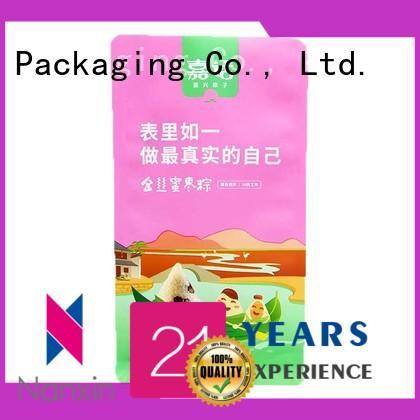 200g flat bottom bag PET/PE food grade packaging for Chinese rice dumpling