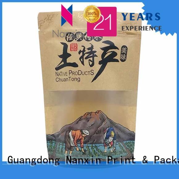 Nanxin Print & Packaging plastic stand up ziplock bag easy reclosing Pet foods