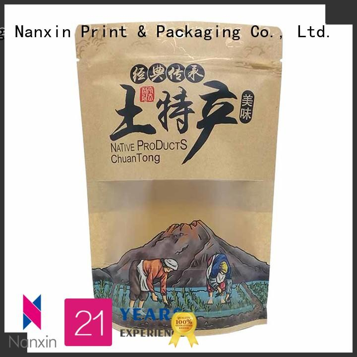 Nanxin Print & Packaging kraft paper stand up pouch bag factory for pet foods