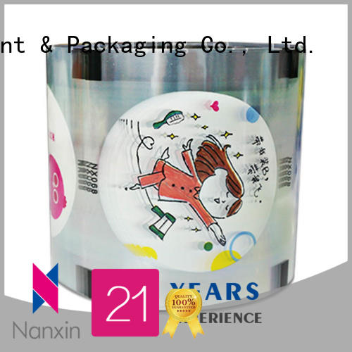 Nanxin Print & Packaging pet/cpp cup sealing film factory for drinks