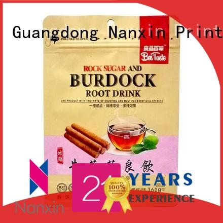 Nanxin Print & Packaging Top flat bottom bag company for foods