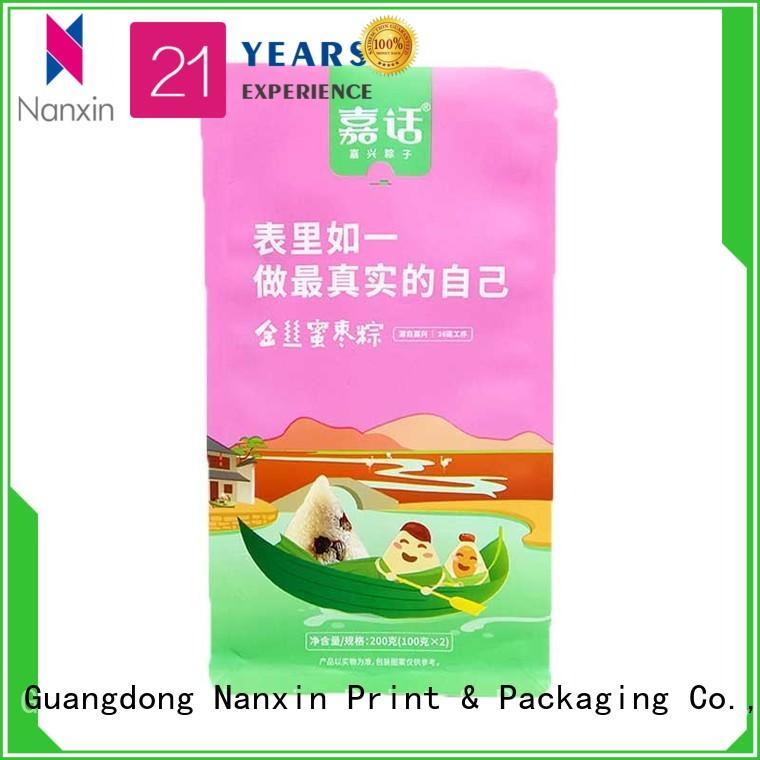 pet/pe flat bottom pouch bright printing cookies Nanxin Print & Packaging