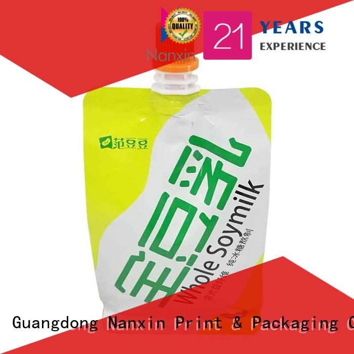 Nanxin Print & Packaging hanging hole spout pouch packaging manufacturers for juice