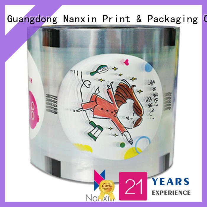 Nanxin Print & Packaging transparent bubble tea sealing film eye-catching jelly