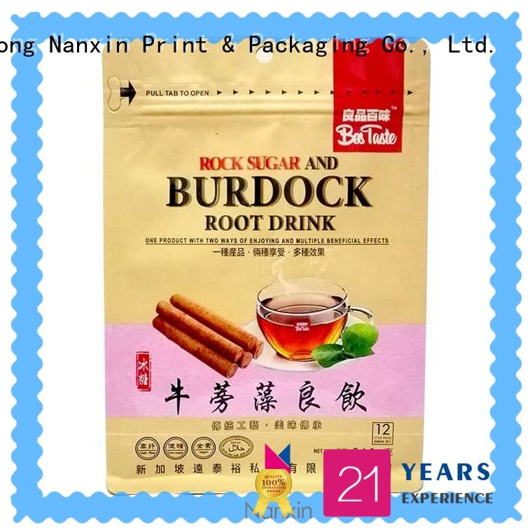 Nanxin Print & Packaging Custom flat bottom bag supply for snack