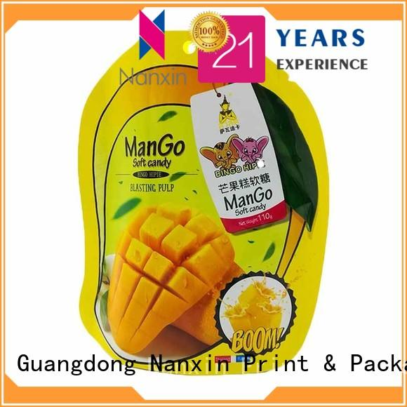Nanxin Print & Packaging resealed zipper stand up pouch bag easy reclosing dried fruit or vegetable