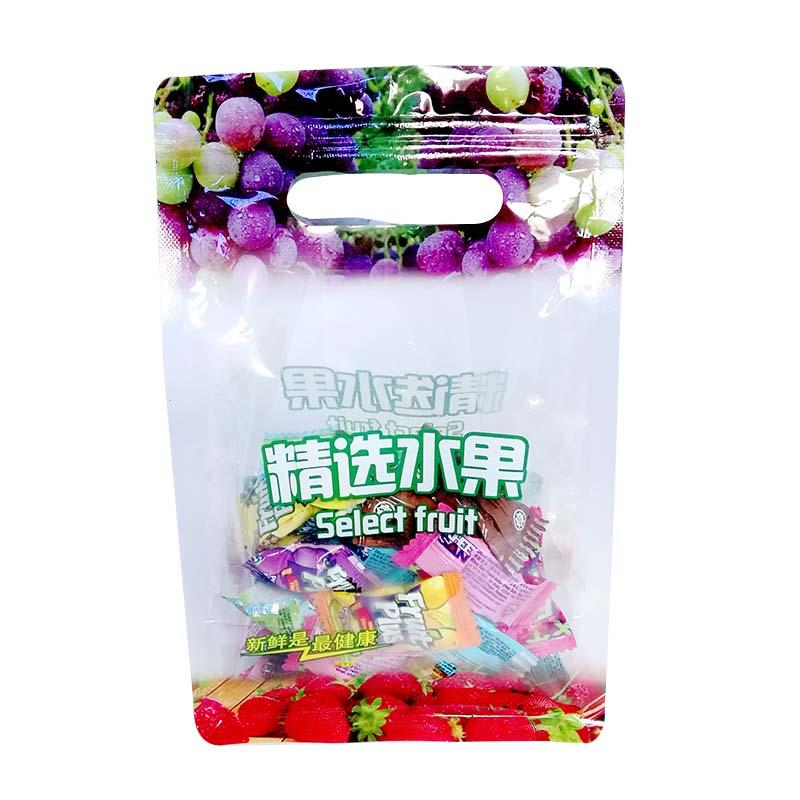 Transparent PET/PE fruit ziplock packaging bags