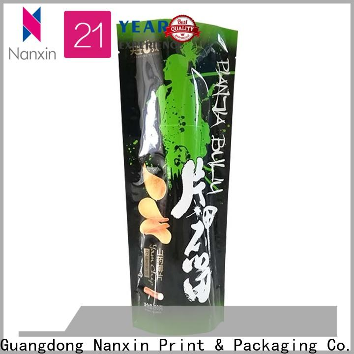 Nanxin Print & Packaging Latest standy pouch supply fpr snacks