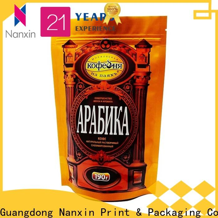 Nanxin Print & Packaging hanging hole stand up pouch packaging factory for dried fruit or vegetable