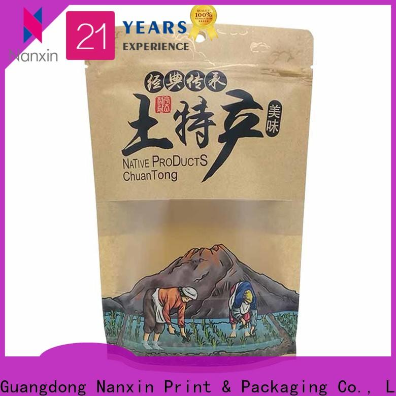 Nanxin Print & Packaging heat seal stand up zipper bag manufacturers for pet foods