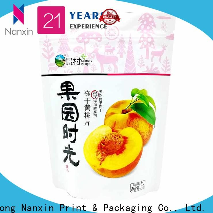 Nanxin Print & Packaging special shape stand up pouch bags for business fpr snacks