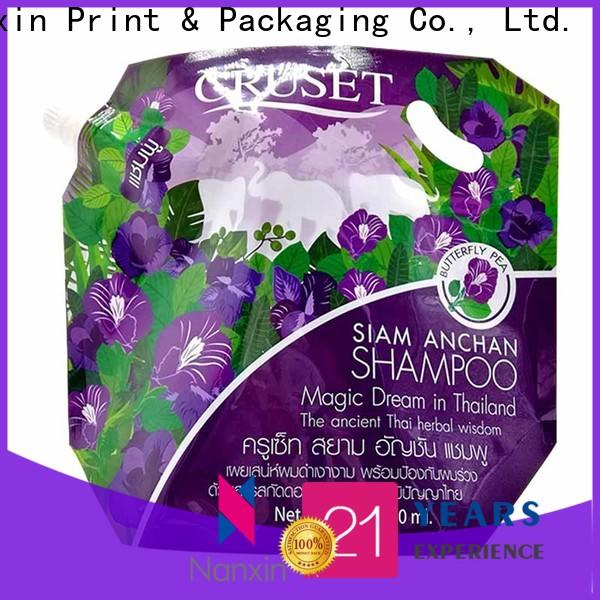 Nanxin Print & Packaging easy carry handle spout pouch wholesale for lotion