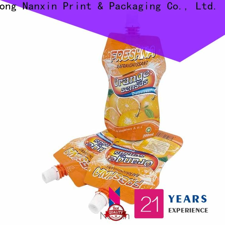 Nanxin Print & Packaging New liquid spout bag manufacturers for sauce