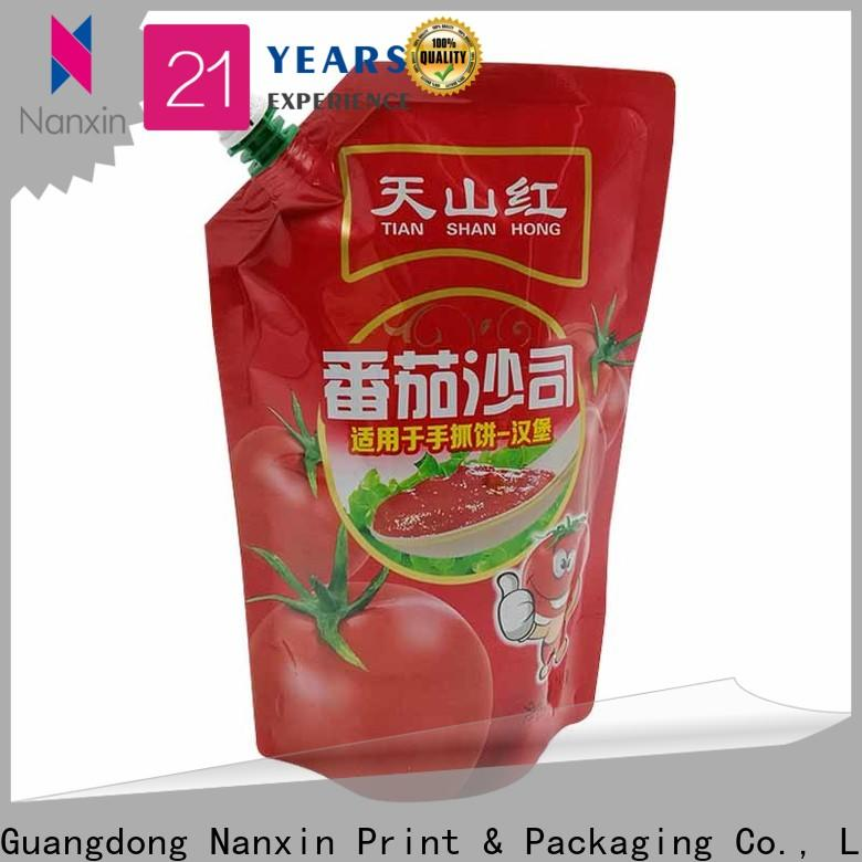 Nanxin Print & Packaging New spout bag suppliers for juice