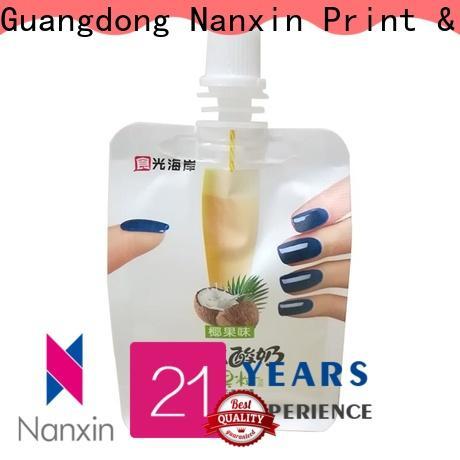 Nanxin Print & Packaging nozzle spout pouch wholesale for lotion