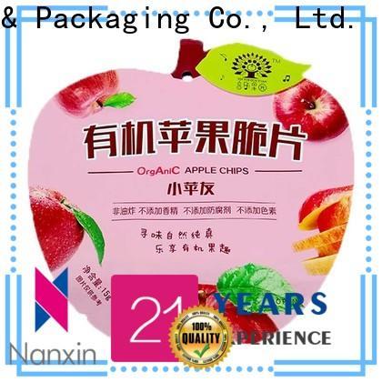 Custom food packaging bags transparent company for liquids