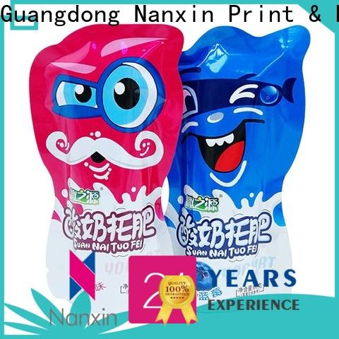Nanxin Print & Packaging pet/pe food pouch packaging suppliers for liquids