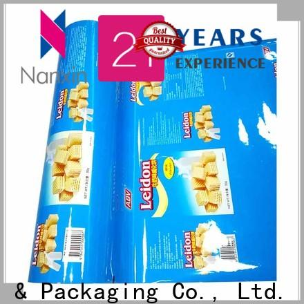 Custom printed packaging film highlight glossy company for cookies