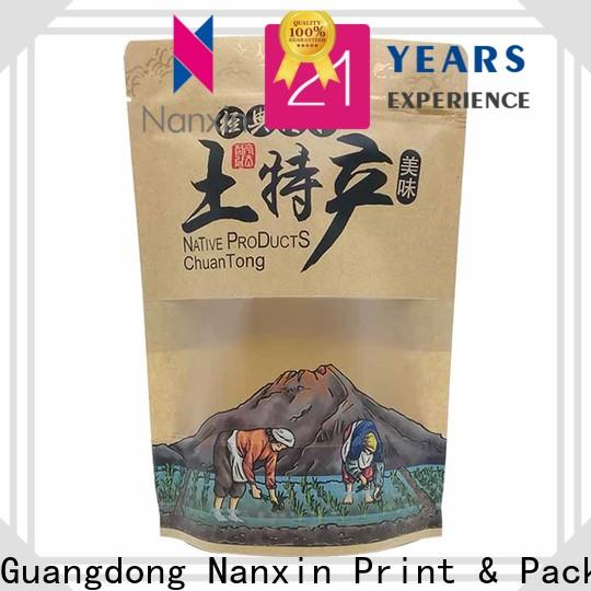 Nanxin Print & Packaging kraft paper stand up pouch packaging company for pet foods