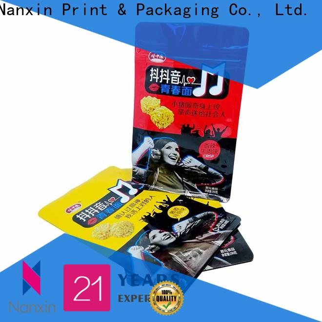 Nanxin Print & Packaging paper flat bottom gusset bags for business for foods