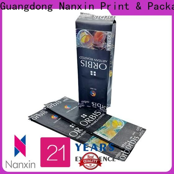 Nanxin Print & Packaging transparent flexible pouches packaging company for foods