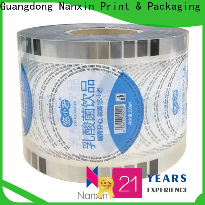 Nanxin Print & Packaging Wholesale cup sealing film for business for jelly