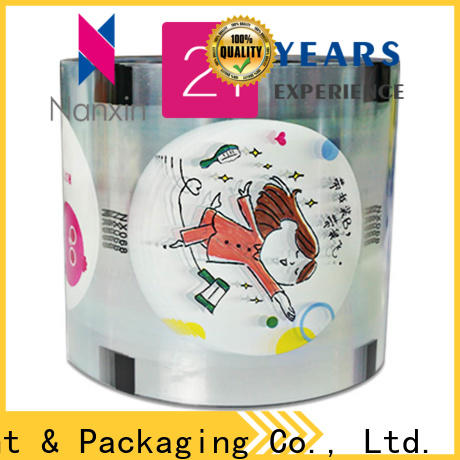 New plastic cup sealing film semi-transparent for business for shop mall