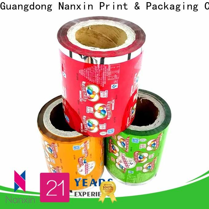 Custom printed plastic roll highlight glossy factory for pudding