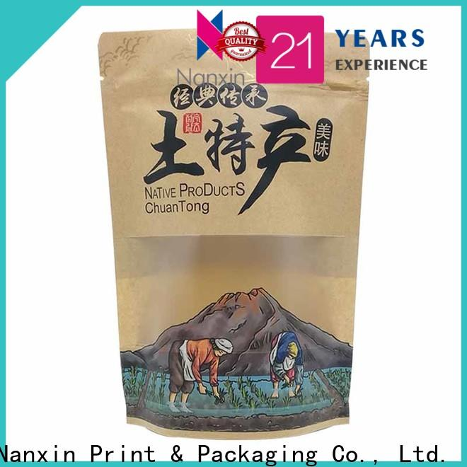 Nanxin Print & Packaging zipper standing up pouch supply fpr snacks
