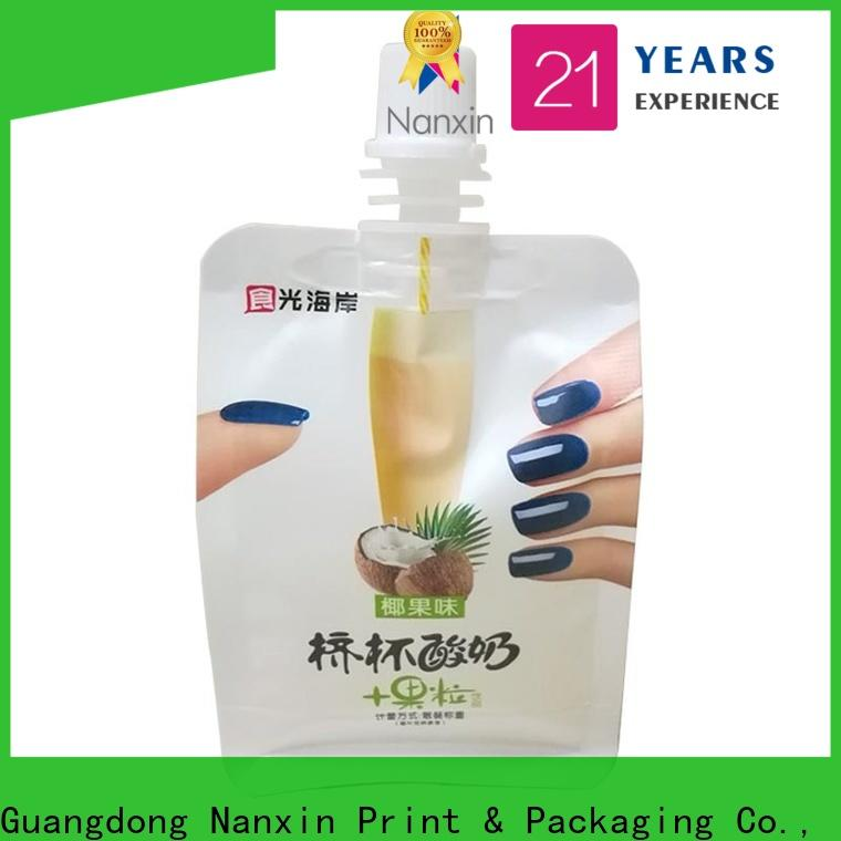 Nanxin Print & Packaging New liquid spout bag for business for yoghurt