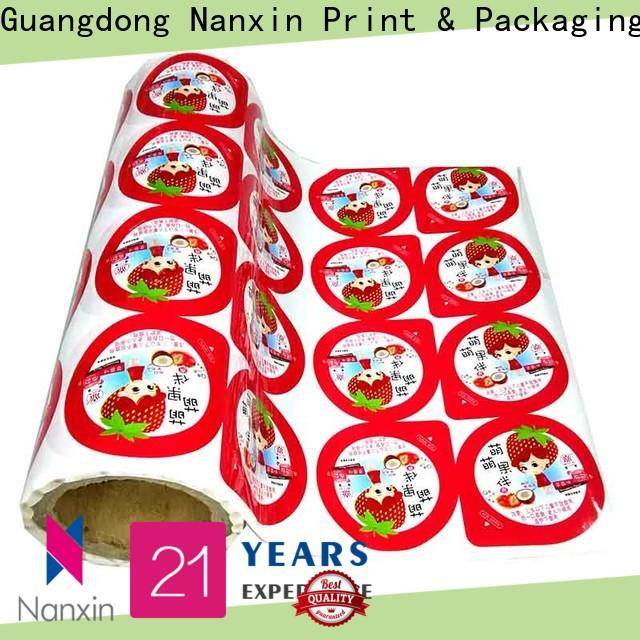 Nanxin Print & Packaging Custom printed plastic roll suppliers for pudding