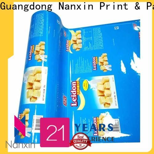 Nanxin Print & Packaging pet/al/cpp food packaging film supply for cookies