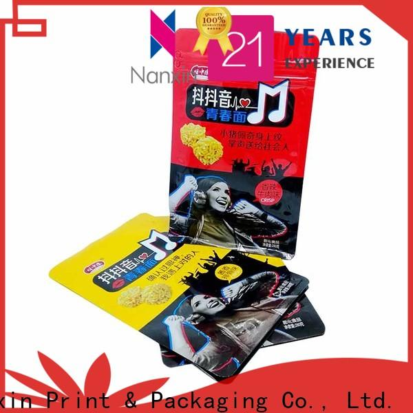 Nanxin Print & Packaging High-quality flat bottom gusset bags factory for foods