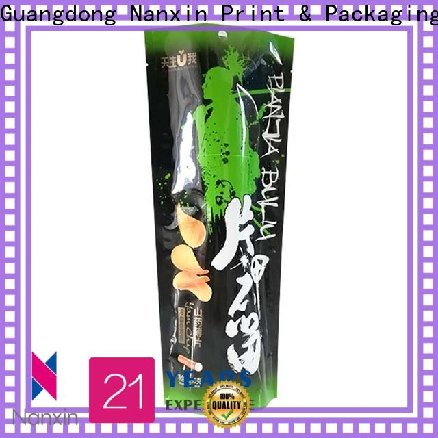 Nanxin Print & Packaging plastic stand up pouch factory fpr snacks