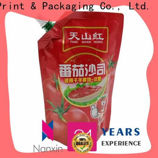Nanxin Print & Packaging Latest spout pouch suppliers for sauce