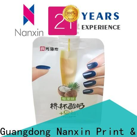 Nanxin Print & Packaging Top spout pouch wholesale for juice