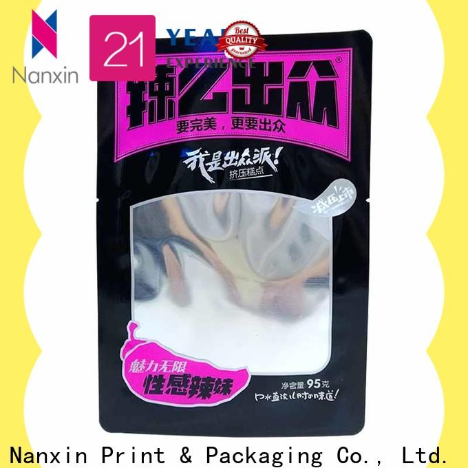 Nanxin Print & Packaging New food pouch packaging for business for foods