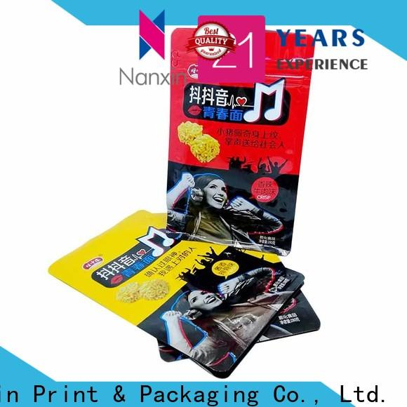 Custom gusset pouch flat bottom shape factory for foods