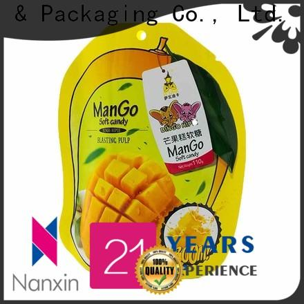 New stand up zipper bag special shape company for dried fruit or vegetable