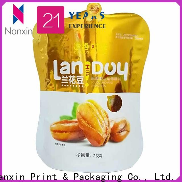 Nanxin Print & Packaging special shape stand up pouch bags factory for dried fruit or vegetable