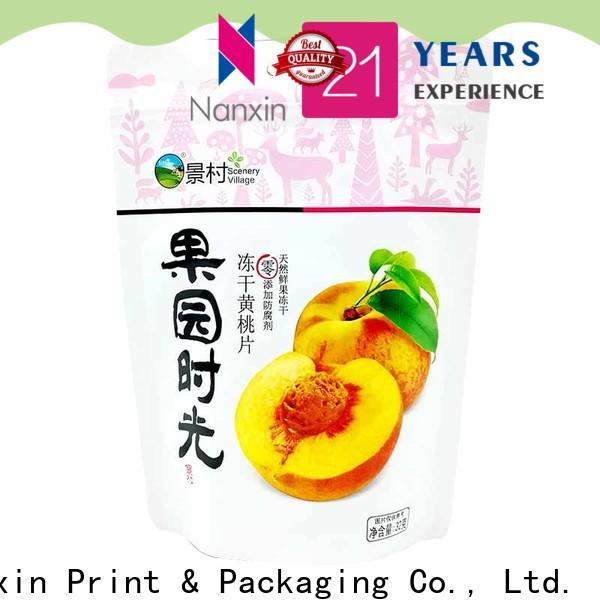 Nanxin Print & Packaging soft stand up pouch bags wholesale fpr snacks