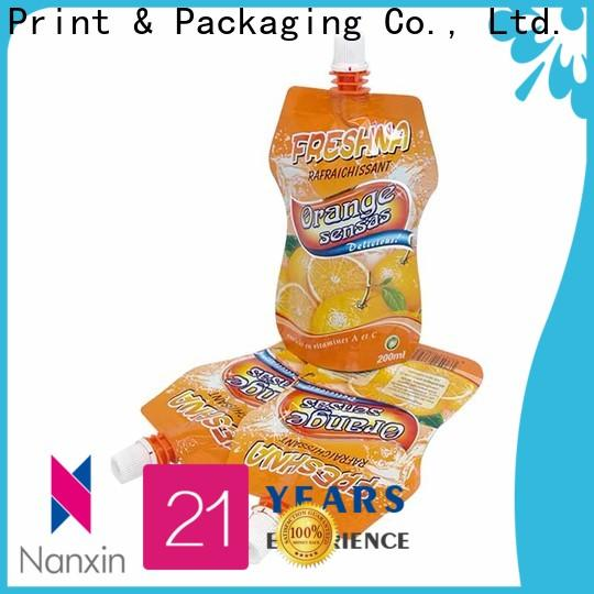 Nanxin Print & Packaging Custom spout pouch packaging supply for juice