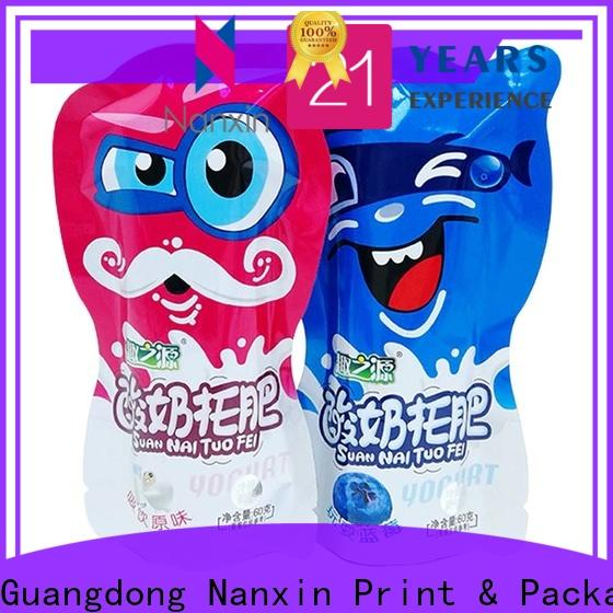 Custom packaging pouches plastic supply for foods