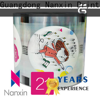Nanxin Print & Packaging transparent cup sealing film factory for shop mall