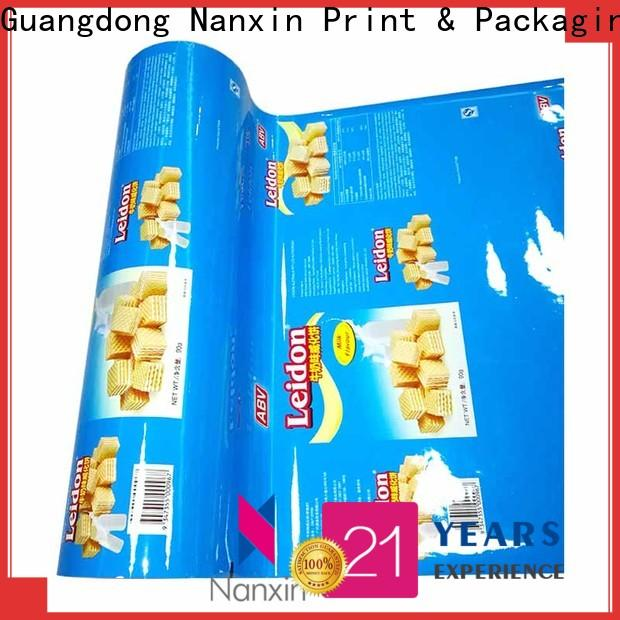 Nanxin Print & Packaging automatic printed printed packaging film suppliers for cookies