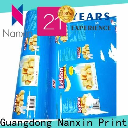 Nanxin Print & Packaging metallic luster laminated packaging films manufacturers for pudding