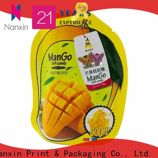 Nanxin Print & Packaging kraft paper stand up pouch packaging wholesale for dried fruit or vegetable