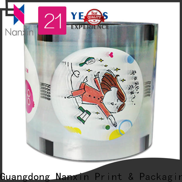 Nanxin Print & Packaging oxygen proof plastic cup sealing film suppliers for drinks
