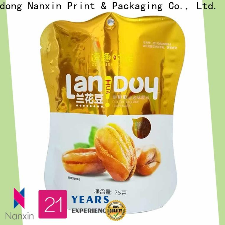 Nanxin Print & Packaging kraft paper stand up ziplock pouch manufacturers for dried fruit or vegetable