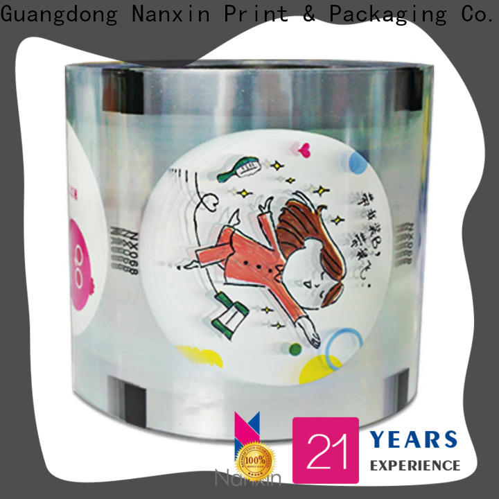 Nanxin Print & Packaging Custom bubble tea sealing film supply for jelly